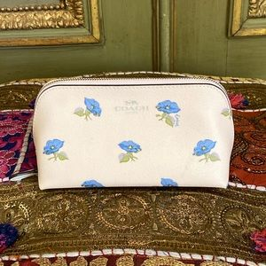 NWT Coach Bell Disney floral print cosmetic case